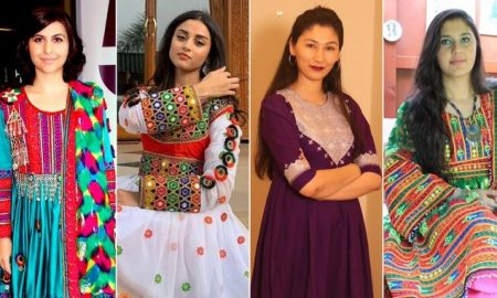 Women share photos of Afghan dresses to protest Taliban's black hijab