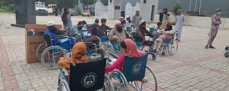 Aurakzai wheel chair distribution