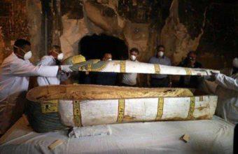Exhibition of Pharaoh's coffin