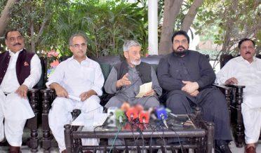 ANP central leader Ghulam Ahmad Bilour press conference