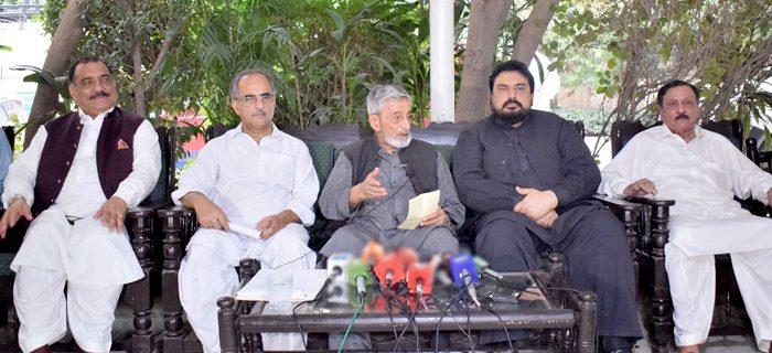 Ghulam Ahmad Bilour press conference