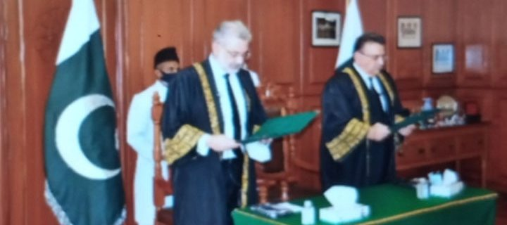 Justice Umar Atabandial took oath as Acting Chief Justice