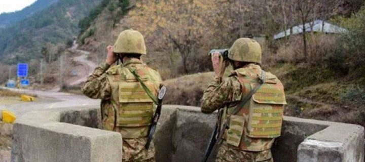 Two security personnel martyred in
