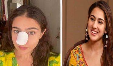 Sara Ali Khan injures her nose