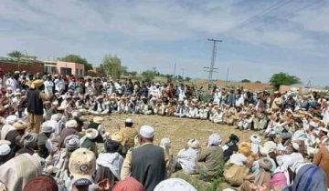 Protest of Khyber Levy special martyrs' families
