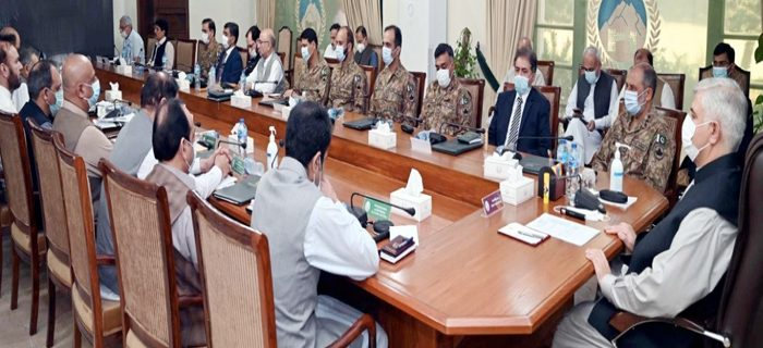 meeting of Provincial Task Force chaired by CM kp Mahmood Khan