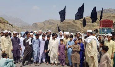 protest on Pak-Afghan Torkham border against border closure
